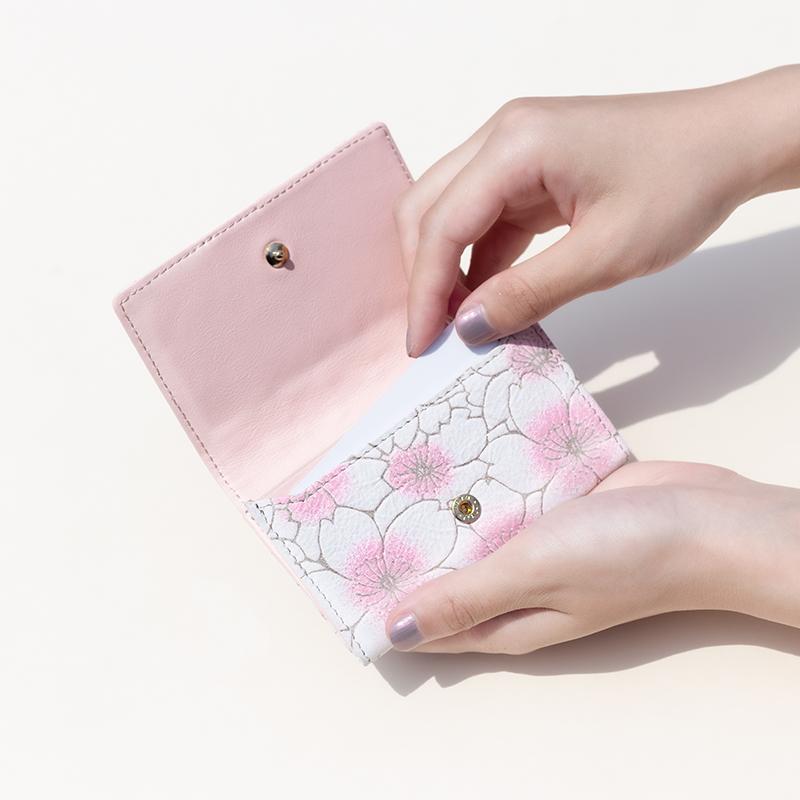 グレインレザー「サクラ」カードケース