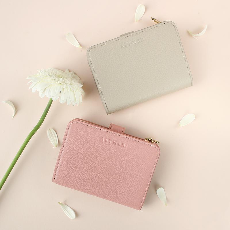 エーテルのパステルバイカラー二つ折り財布「エクラ」