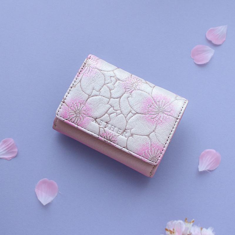 「サクラ」ミニ財布(三つ折り)