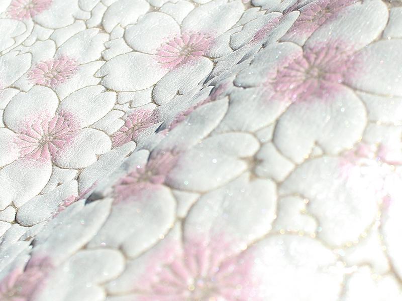 桜柄牛革ヌバックレザー「サクラ」