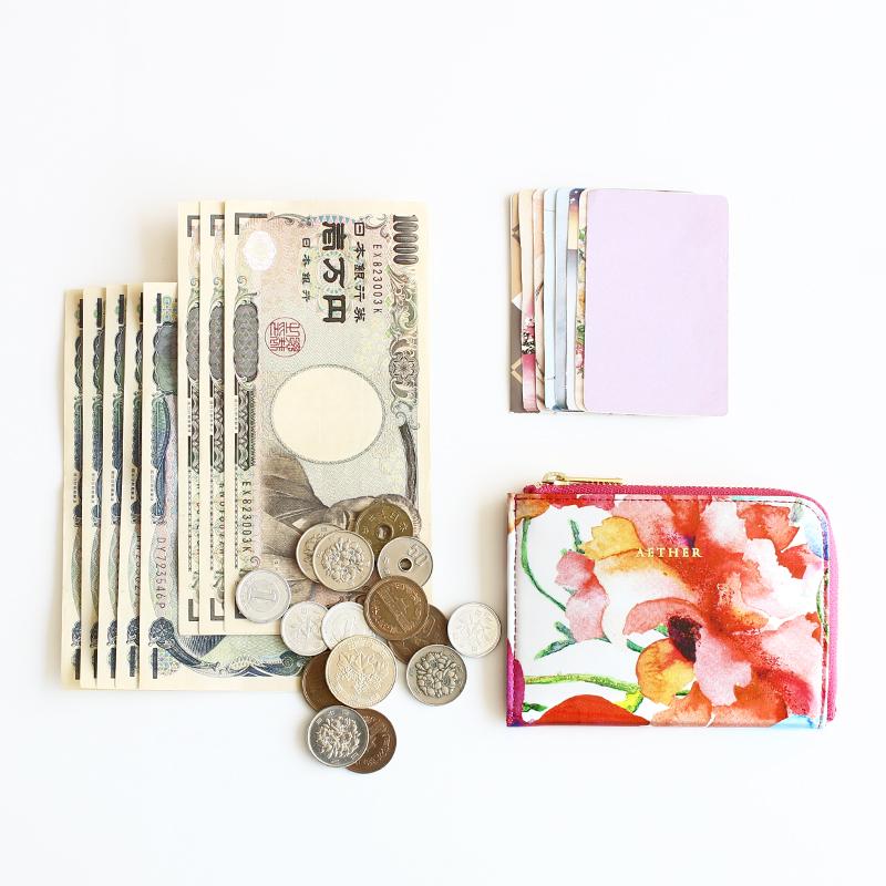 「ピヴォワンヌ」L字ファスナーミニ財布