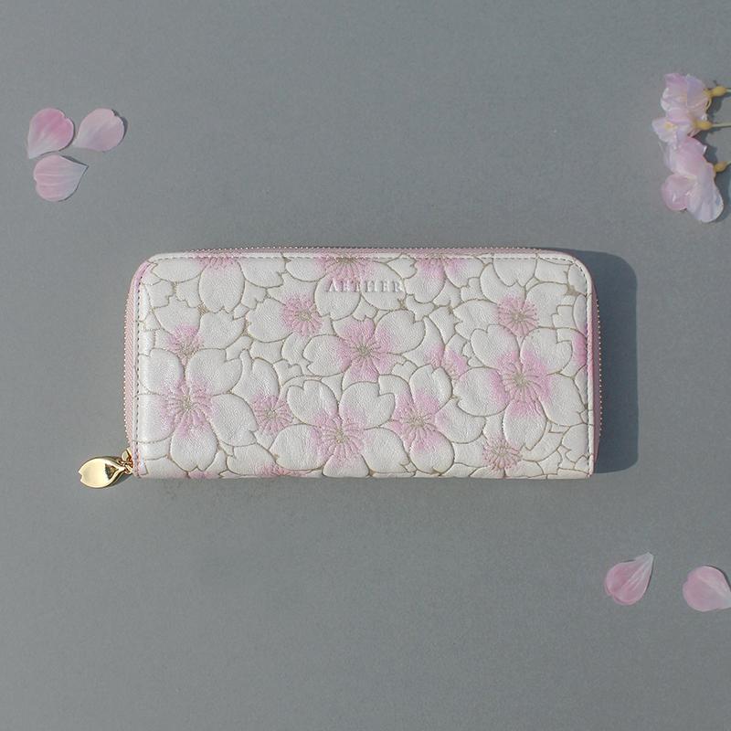 グレインレザー「サクラ」がま口財布