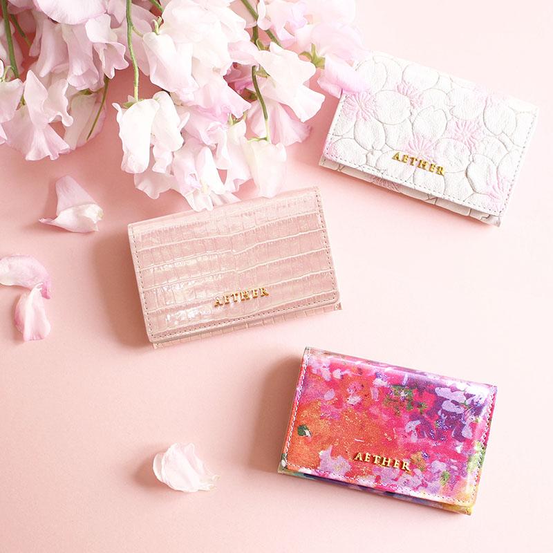 エーテルのピンクの財布