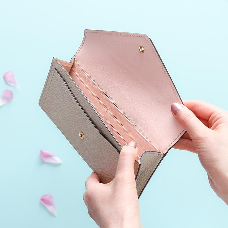 エーテルのパステルバイカラーレター型長財布財布「エクラ」