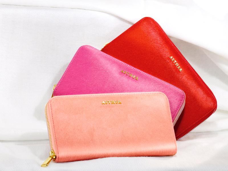 エーテルの牛革の財布
