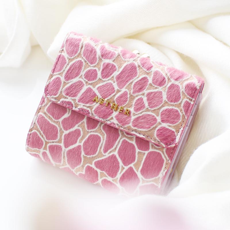 ヘアカーフ「ロゼ」二つ折り財布(がま口)