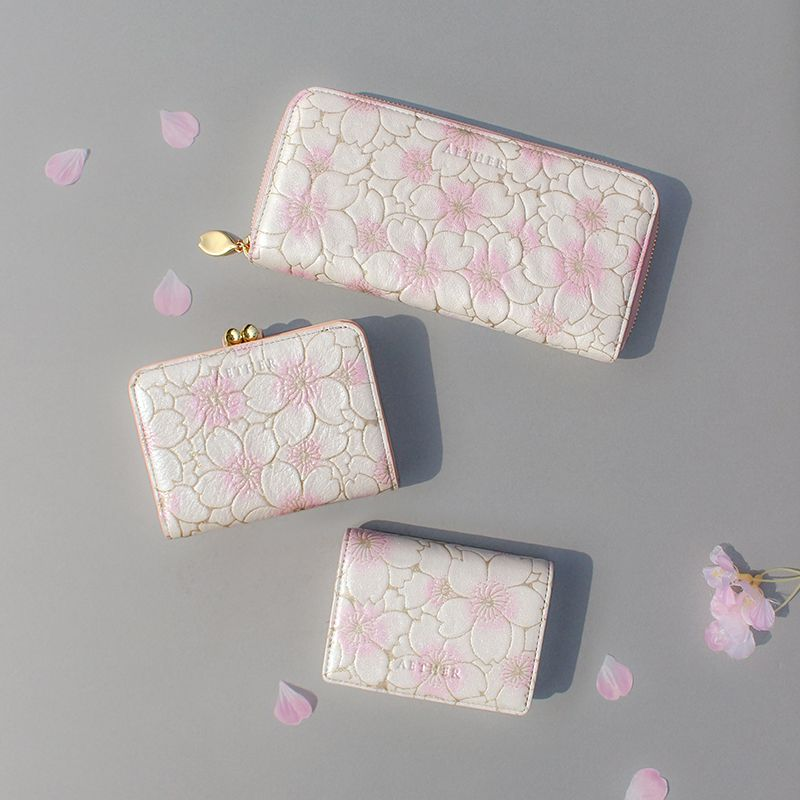 桜柄長財布とミニ財布