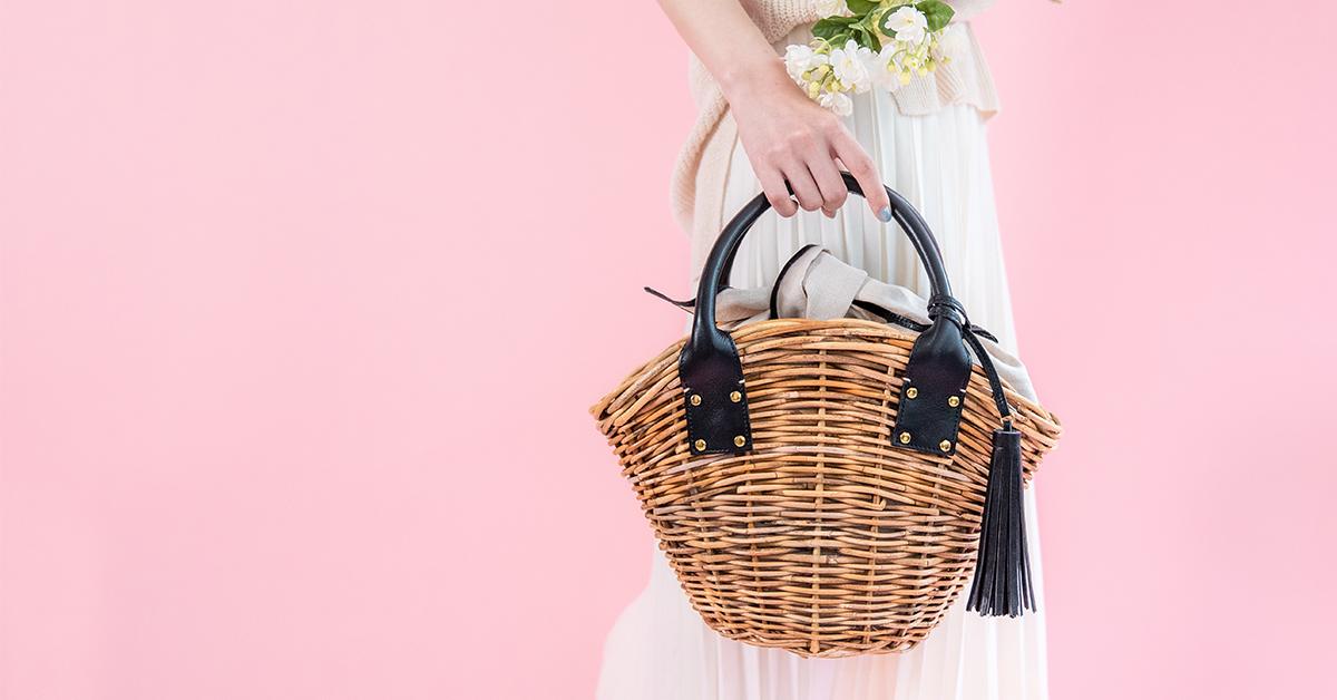 天然アラログ製かごバッグ「マノン」