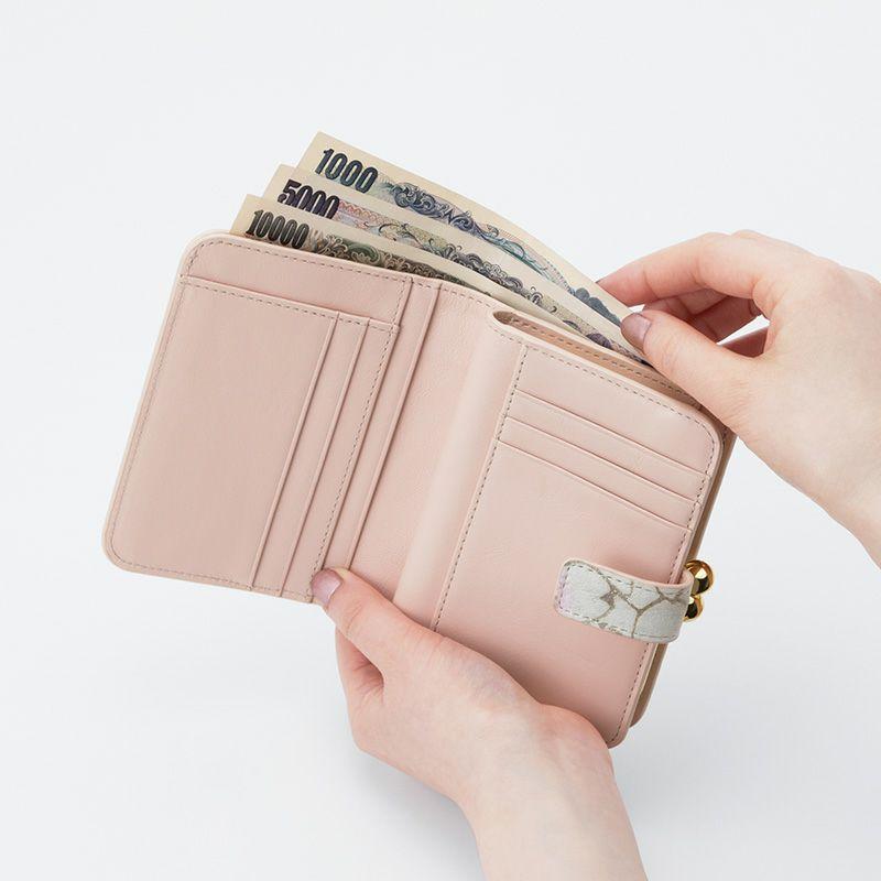 グレインレザー「サクラ」二つ折り財布(がま口)