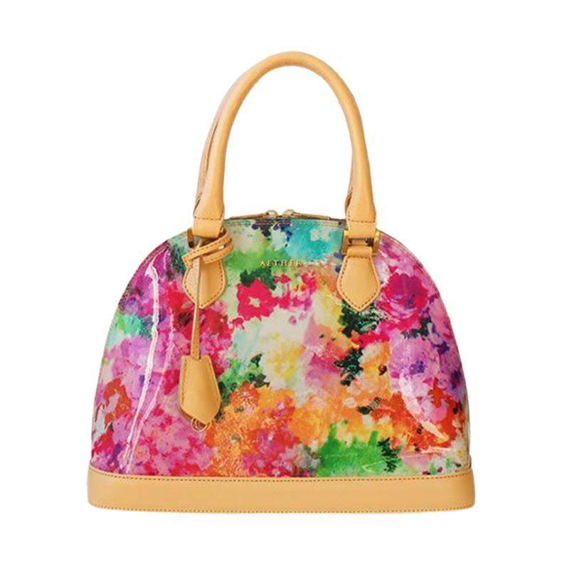 エナメルレザー「フルール」2wayハンドバッグ