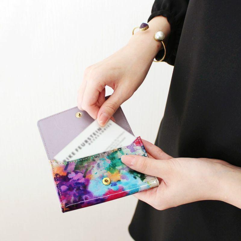 エナメルレザー「フルール」カードケース