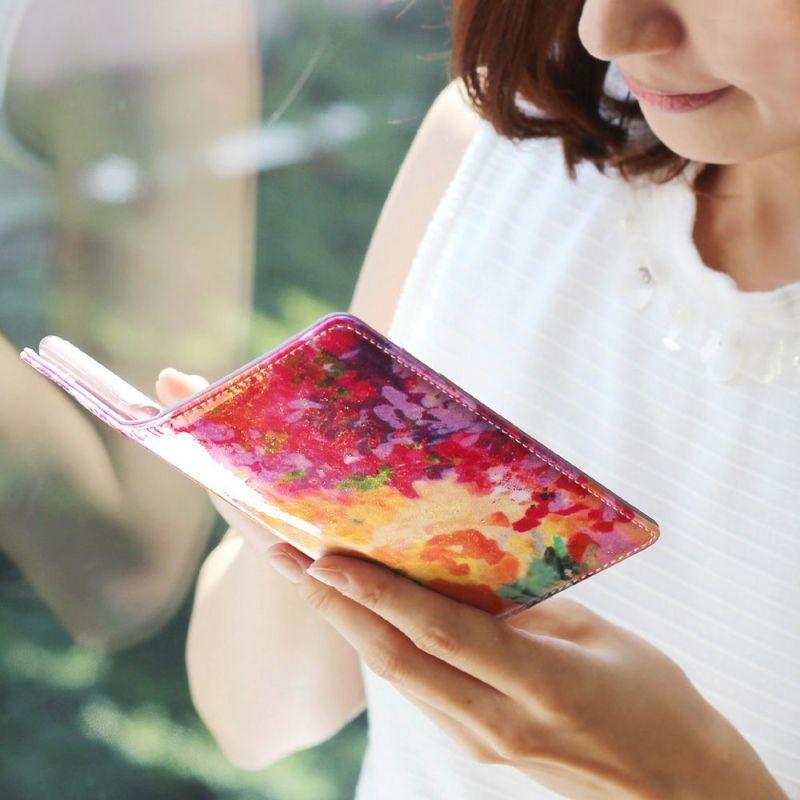 エナメルレザー「フルール」手帳型スマホケース(iPhone8/7/6/6s対応)