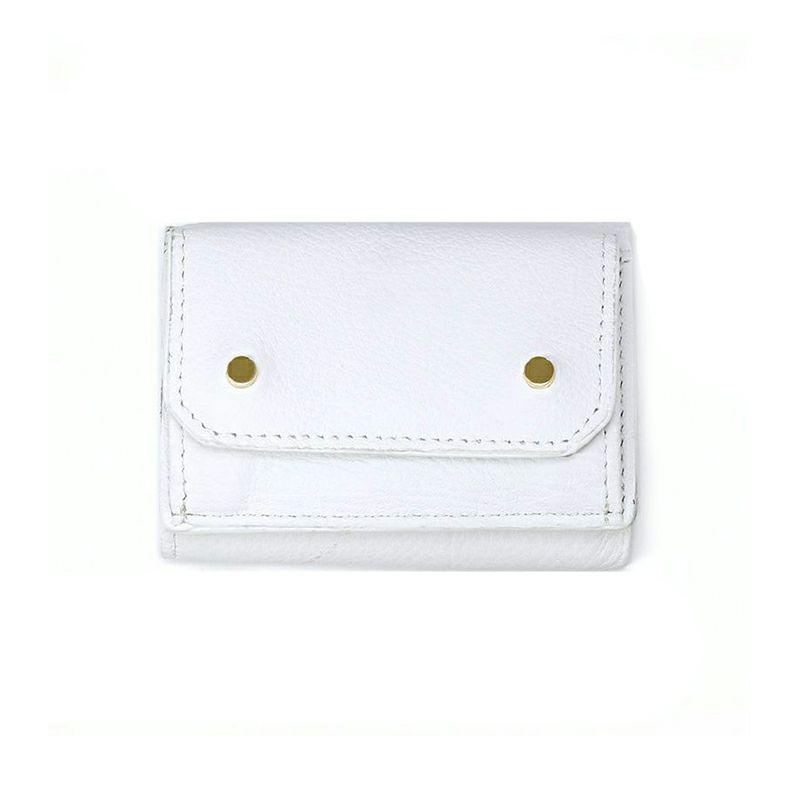 AETHER×BIZOUXコラボ ミニ財布(三つ折り)ホワイト