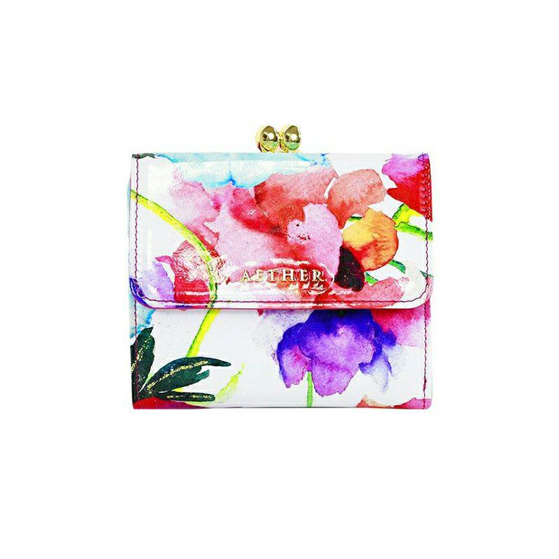 「ピヴォワンヌ」二つ折り財布(がま口)