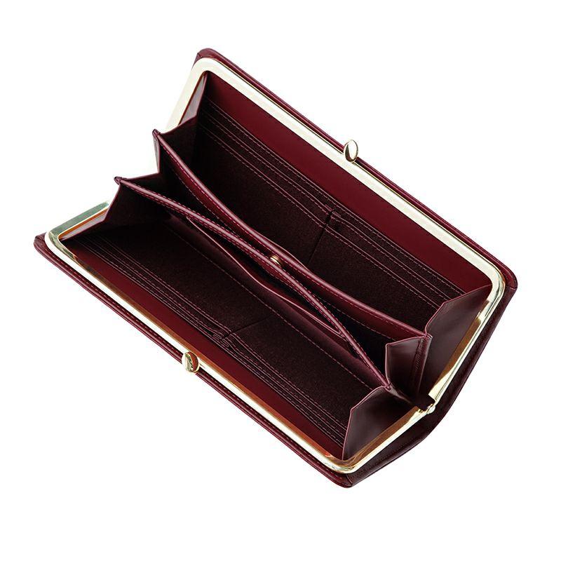 コードバン「ディアマン」長財布(がま口)