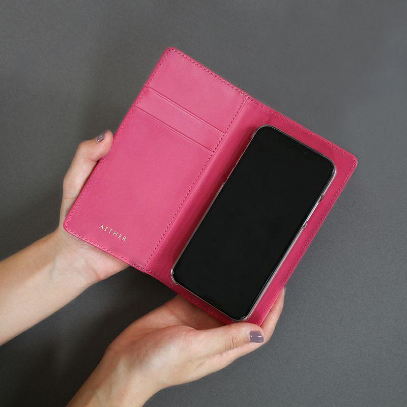 エナメルレザー「ピヴォワンヌ」手帳型スマホケース(全機種対応)内側
