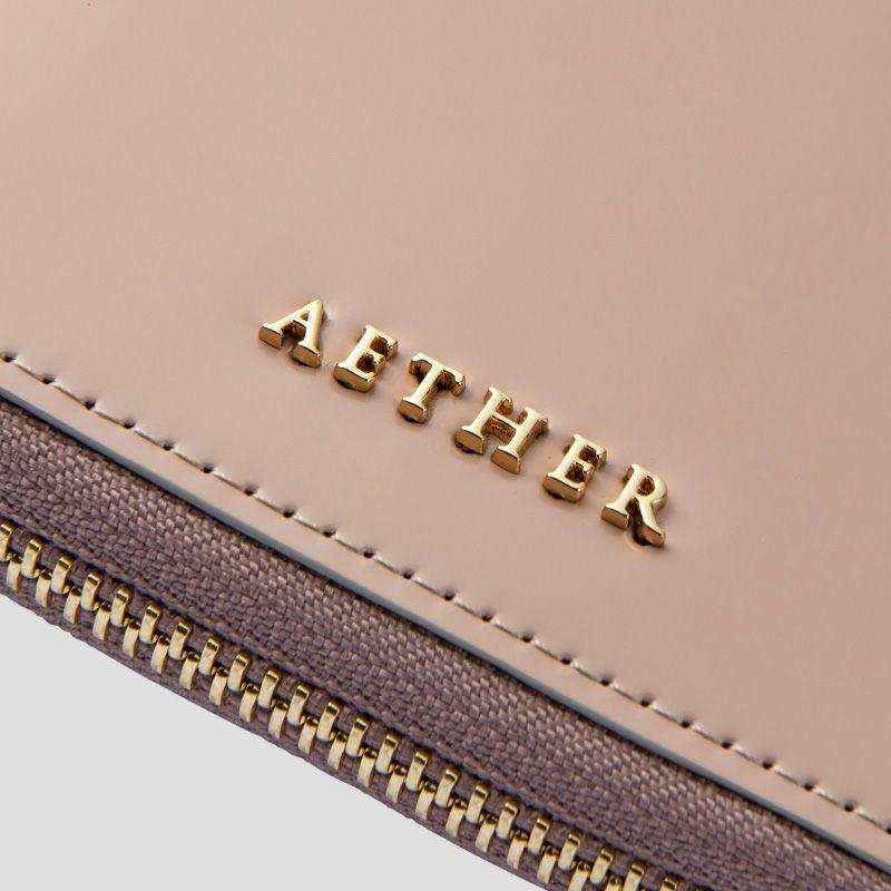 コードバン「ディアマン」二つ折り財布(ラウンドファスナー)内装