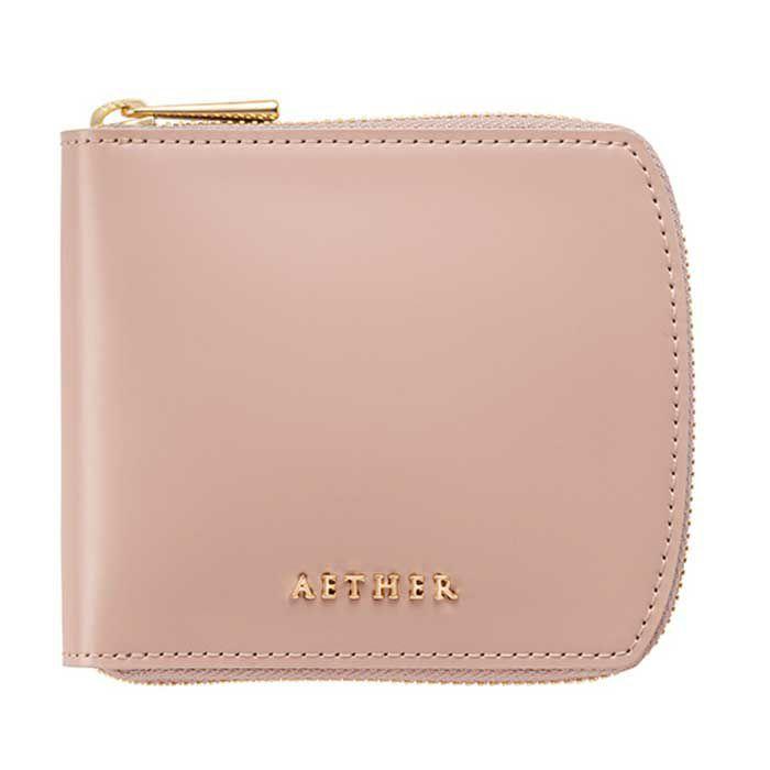 コードバン「ディアマン」二つ折り財布(ラウンドファスナー)