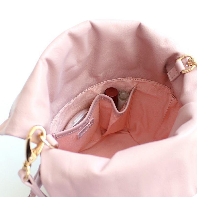 「トゥシェ」巾着バケツバッグ・ブルジョン