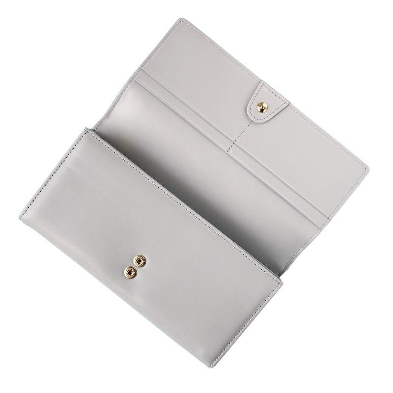 クロコ型押しレザー「ルシエル」長財布(かぶせ)