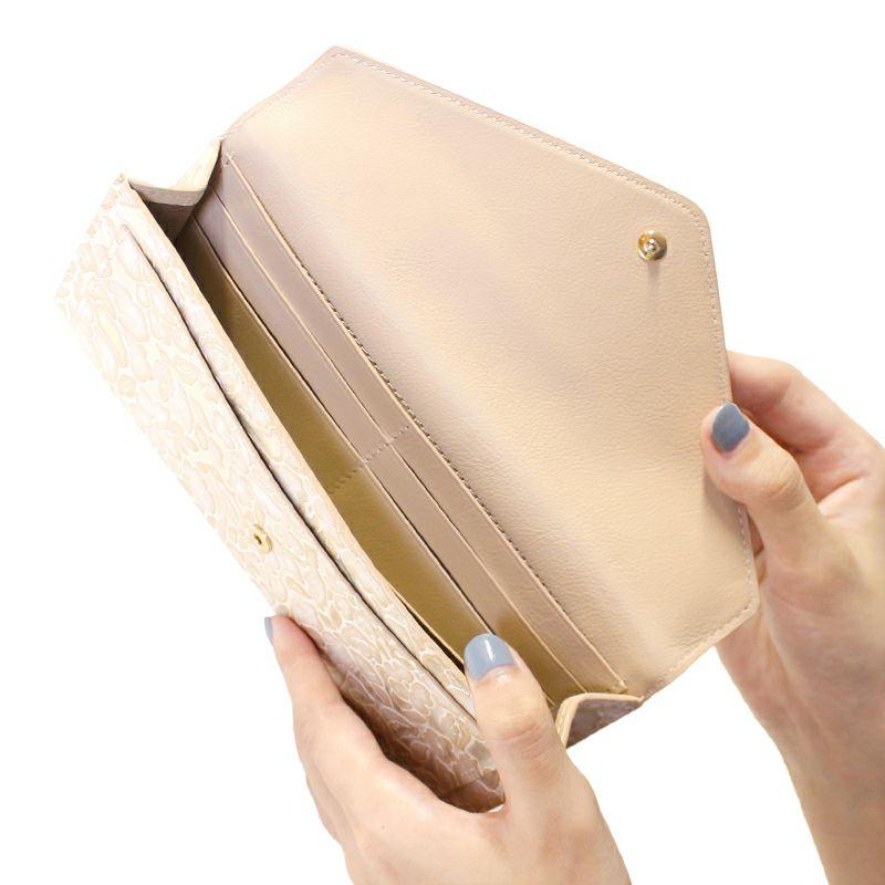 ローズ型押しレザー「シュクレ」長財布(レター型)