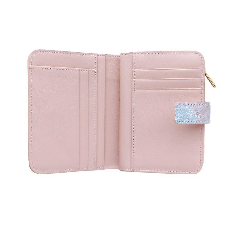 マーガレット型押しレザー「マルグリート」二つ折り財布